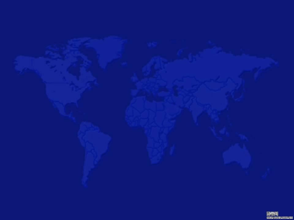 蓝色世界地图背景-商务ppt模板